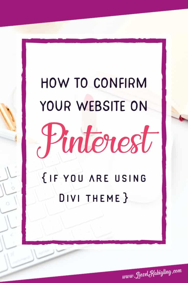 How to Confirm Your WordPress Site on Pinterest (If You are Using DIVI Theme)