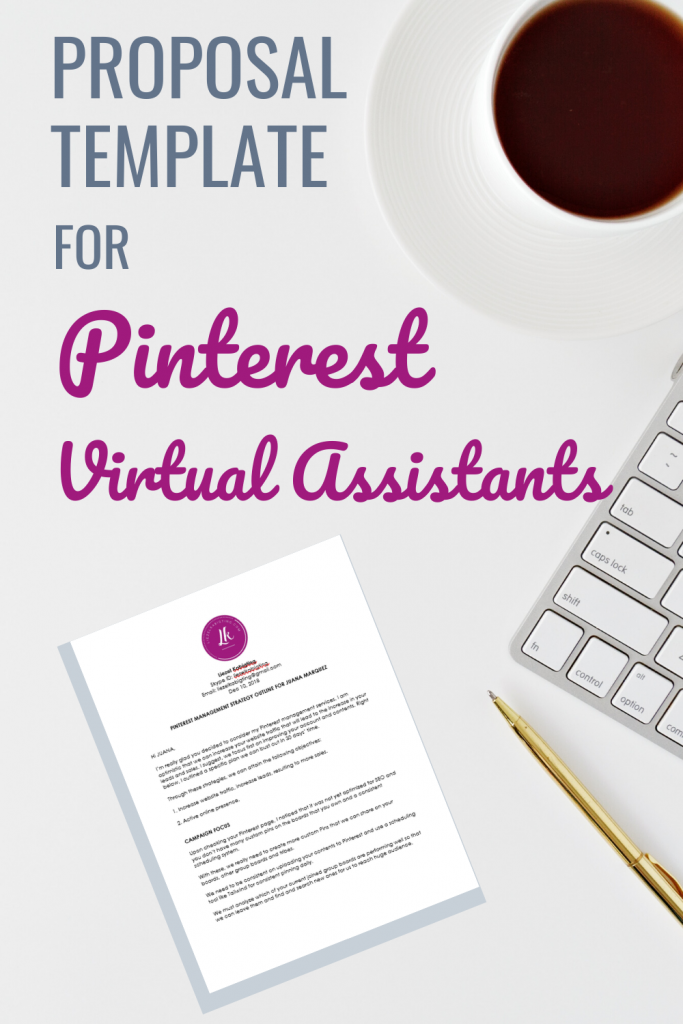 proposal template for Pinterest Virtual Assistants